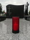 Szklany znicz LED czerwony